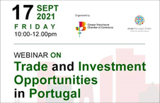 Attend the webinar on Trade and Investment Opportunities in Portugal