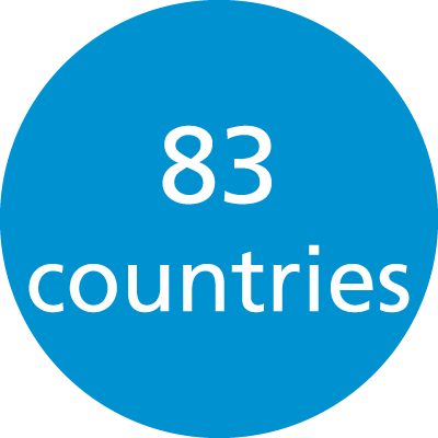 More than 80 countries
